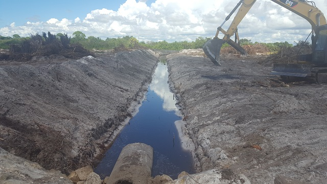 2 Temp drainage channel