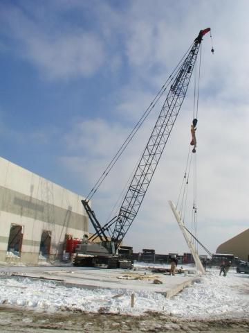 Construction Project using tilt up walls